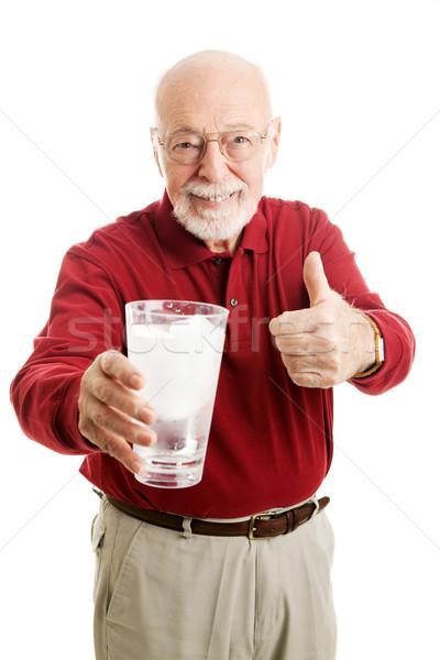 Senior Man Stays Hydrated - Water Stock photo © lisafx