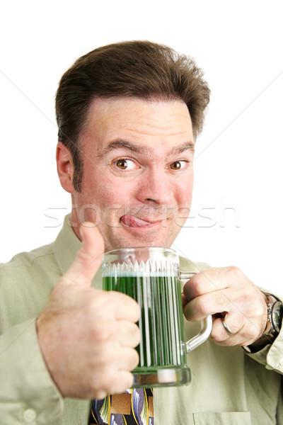 Bêbado dia de São Patricio irlandês homem bebidas Foto stock © lisafx