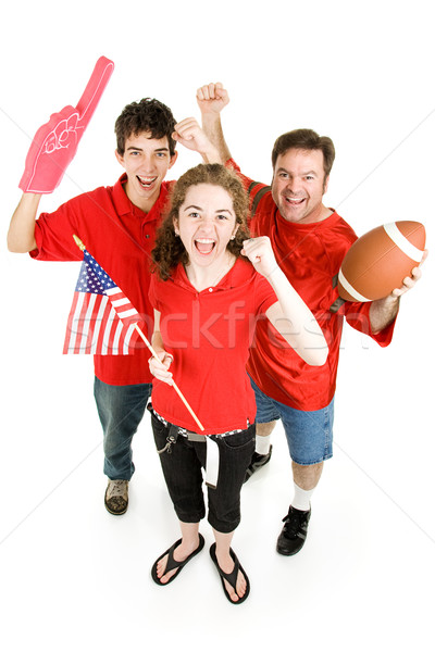 Stock photo: Crazed Football Fans