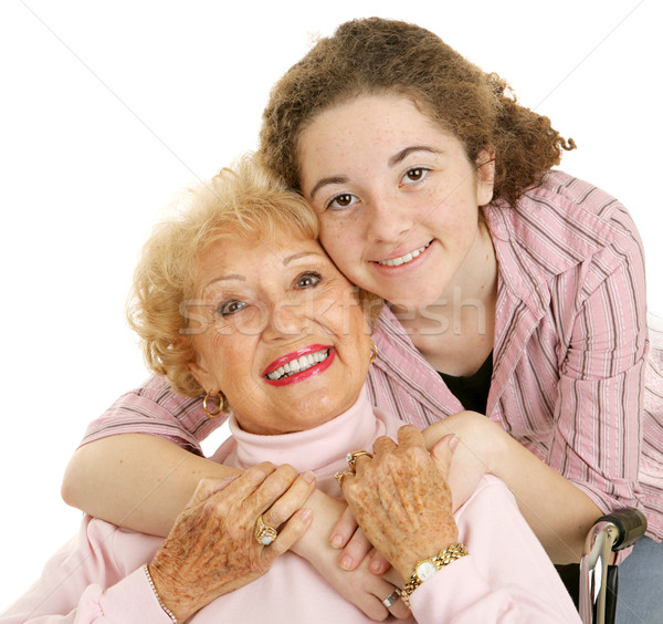 Amore nonna ritratto amorevole nonna Foto d'archivio © lisafx