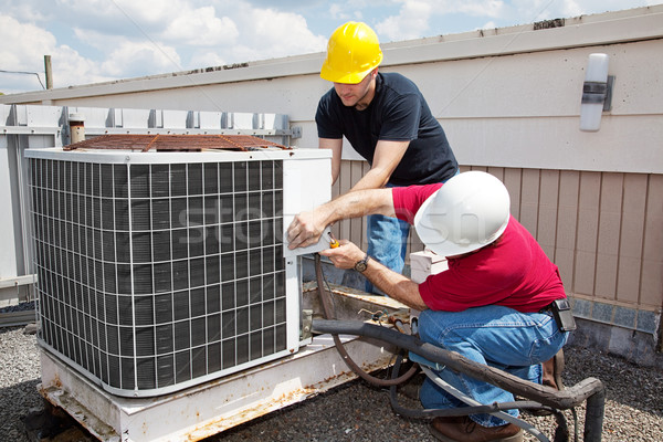 Industrial Air Conditioning Repair Stock photo © lisafx