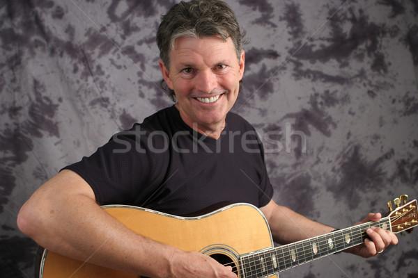 Stock foto maduro masculina guitarrista guapo Foto stock © lisafx