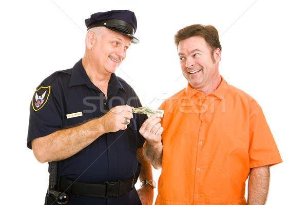 Policeman Accepts Bribe Stock photo © lisafx