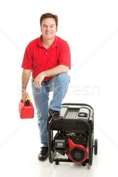 готовый катастрофа человека газ можете портативный Сток-фото © lisafx
