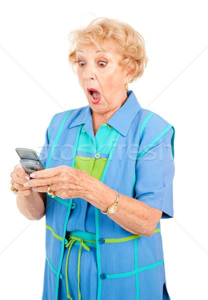 Senior Woman - Shocking Text Stock photo © lisafx