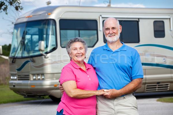 Seniors and Luxury Motor Home Stock photo © lisafx