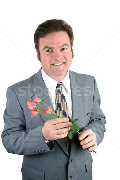 Sweet Husband & Sweetheart Roses Stock photo © lisafx