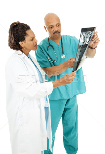 Serious Doctors Review X-rays Stock photo © lisafx