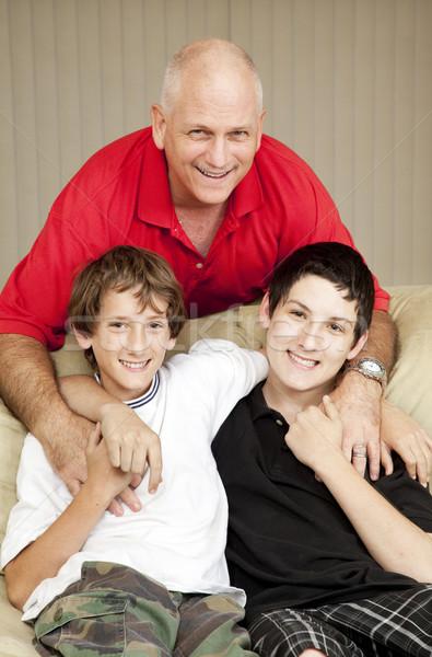 Apa portré szerető kettő szeretet férfi Stock fotó © lisafx