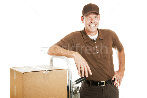 Casual Delivery Guy or Mover Stock photo © lisafx