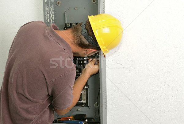 Electrician Connecting Wire Stock photo © lisafx