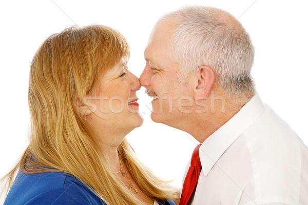 Mature Couple Rubbing Noses Stock photo © lisafx