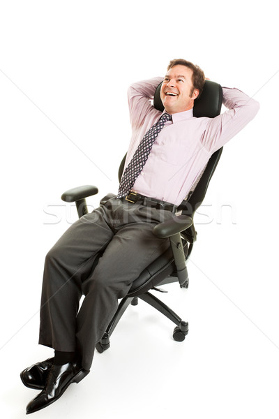 Relaxed Businessman Ergonomics Stock photo © lisafx