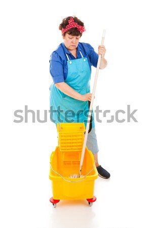 Sad Cleaning Lady Stock photo © lisafx