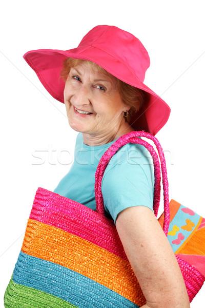 Summer Senior - All Smiles Stock photo © lisafx