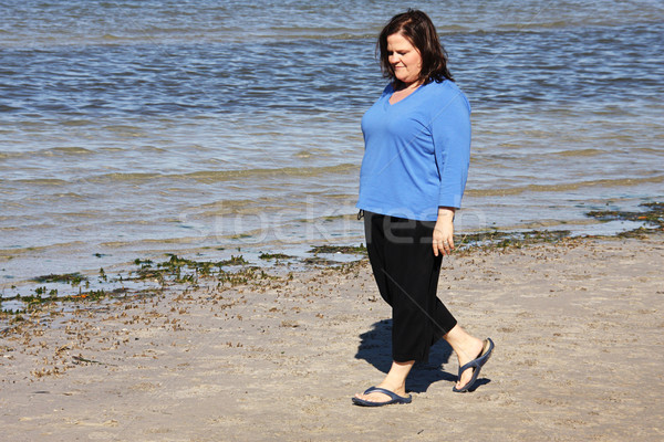 Walking by the Shore Stock photo © lisafx