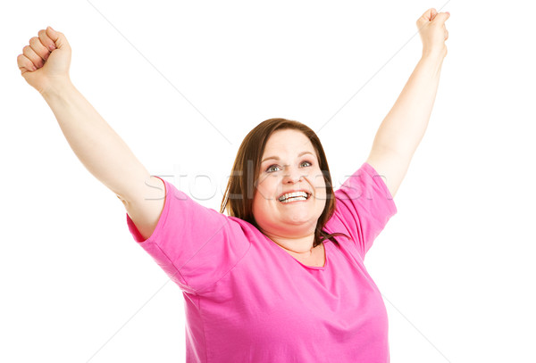 Overweight Woman is Overjoyed Stock photo © lisafx