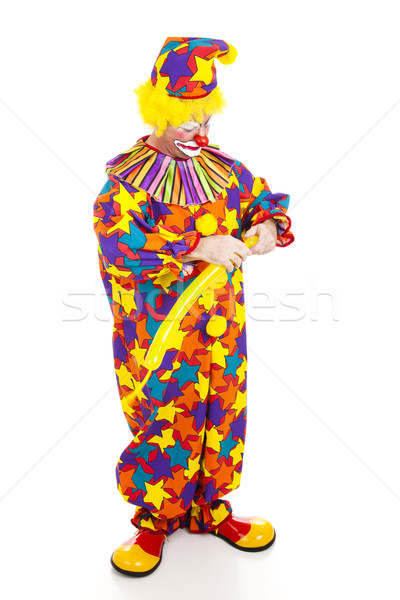 Clown Twisting Balloon Animal Stock photo © lisafx