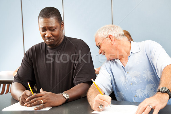 Stock photo: Adult Ed- Cheating