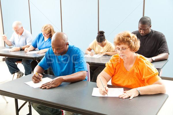 Trabajo formación pruebas diverso la educación de adultos clase Foto stock © lisafx