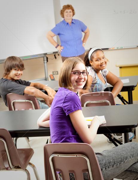 Zdjęcia stock: Szkoły · dzieci · klasy · portret · studentów