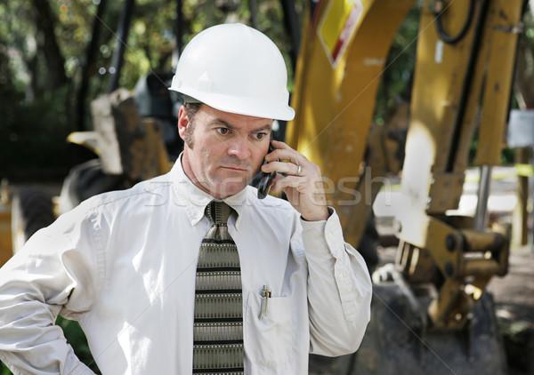 Engineer On Construction Site Stock photo © lisafx