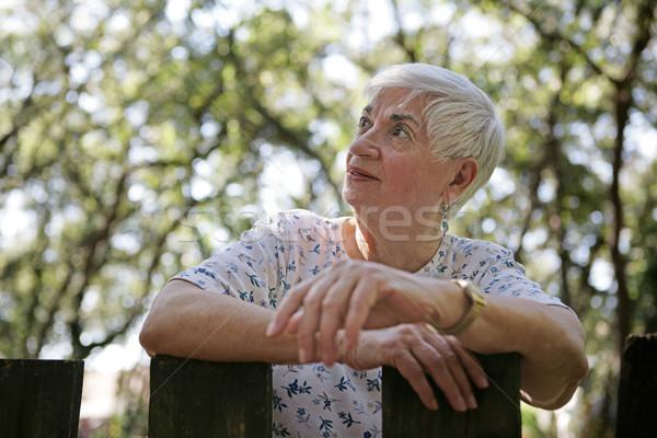 Optimistic Senior Lady Stock photo © lisafx