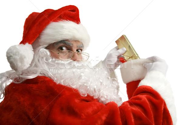 Santa Caught In Act Stock photo © lisafx