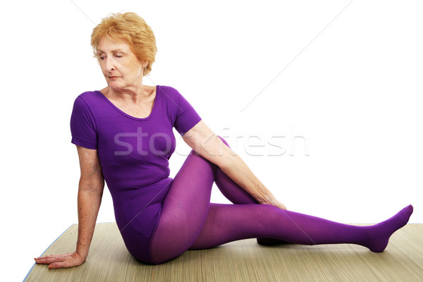 Senior Yoga - Spinal Twist Stock photo © lisafx