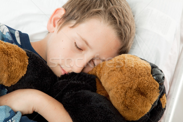 Adormecido criança adorável pequeno menino soar Foto stock © lisafx