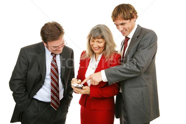 Stock fotó: üzleti · csapat · játék · élvezi · elektronikus · izolált · fehér