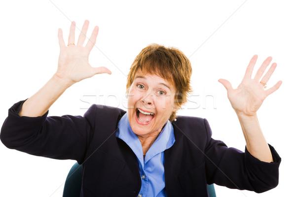 Business Woman - Panic Stock photo © lisafx
