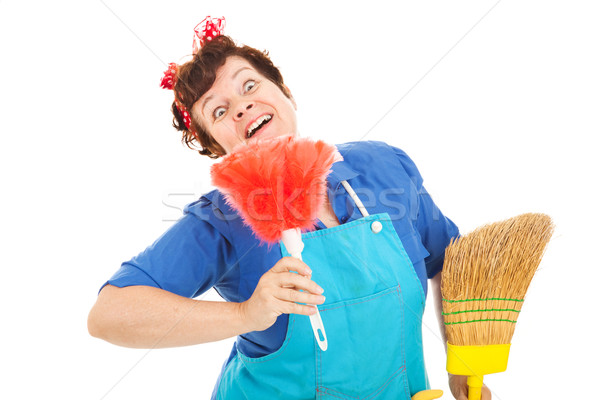 Crazy Cleaning Lady Stock photo © lisafx