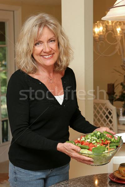 Здоровый образ жизни Салат красивой здорового Сток-фото © lisafx