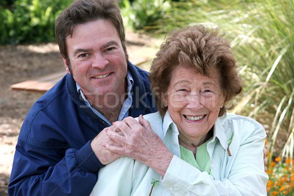 Mother & Grown Son Stock photo © lisafx