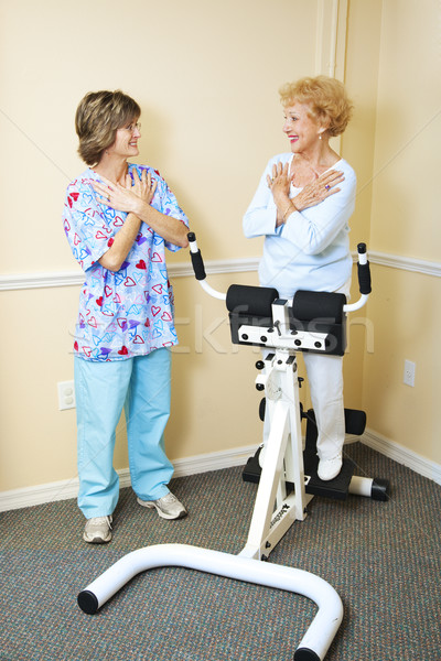 Physical Therapist with Chiropractic Patient Stock photo © lisafx