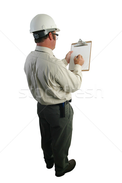 Safety Inspector Checklist Stock photo © lisafx