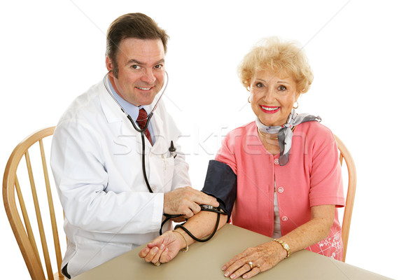 Senior Medical - Taking Blood Pressure Stock photo © lisafx