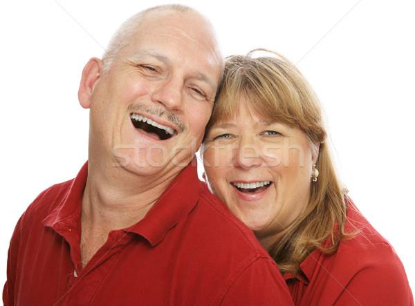 śmiech szczęśliwy w średnim wieku para śmiechem wraz Zdjęcia stock © lisafx