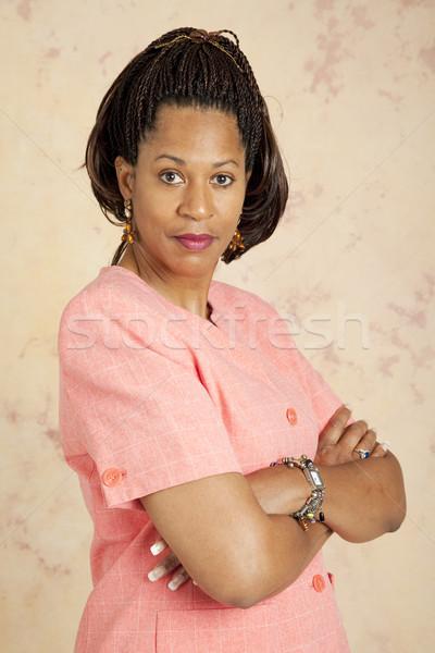 деловая женщина серьезный отношение красивой модель портрет Сток-фото © lisafx