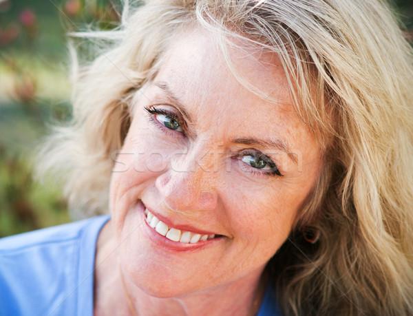 Closeup Portrait - Mature Blond Beauty Stock photo © lisafx