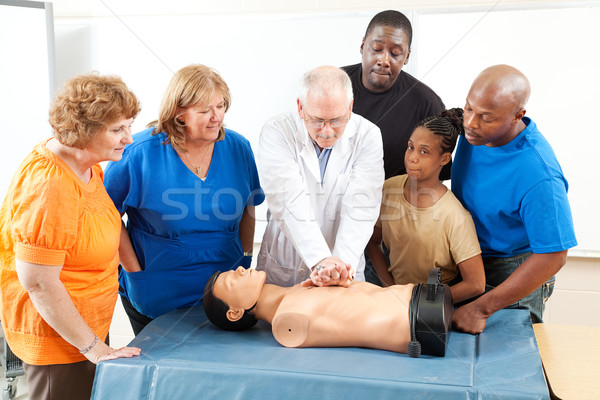 First Aid Training for Adults Stock photo © lisafx