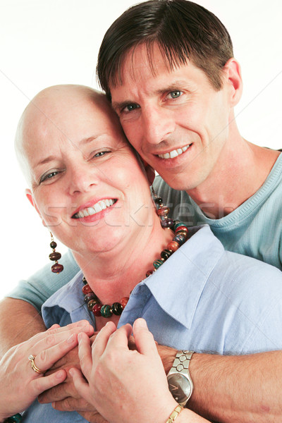 Loving Couple Beats Cancer Stock photo © lisafx