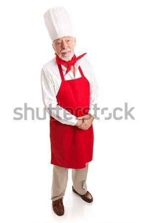 Competente chef isolato bianco view Foto d'archivio © lisafx