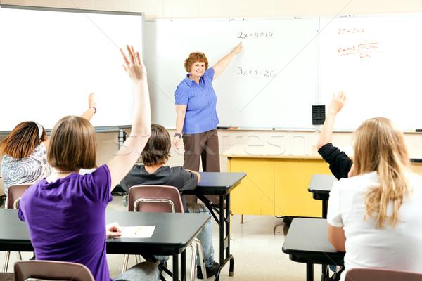Stock foto insegnamento algebra classe studenti Foto d'archivio © lisafx