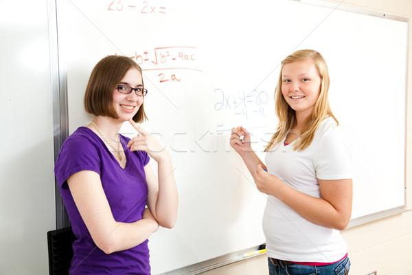 Algebra classe teen ragazze adolescente scuola Foto d'archivio © lisafx