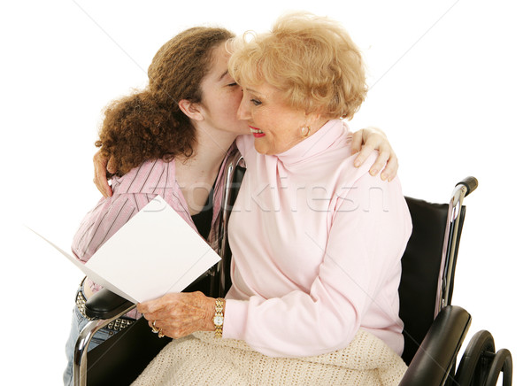 Card & Kiss for Grandma Stock photo © lisafx