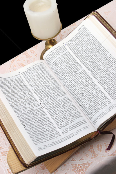 Bible ouvrir vertical vue Photo stock © lisafx