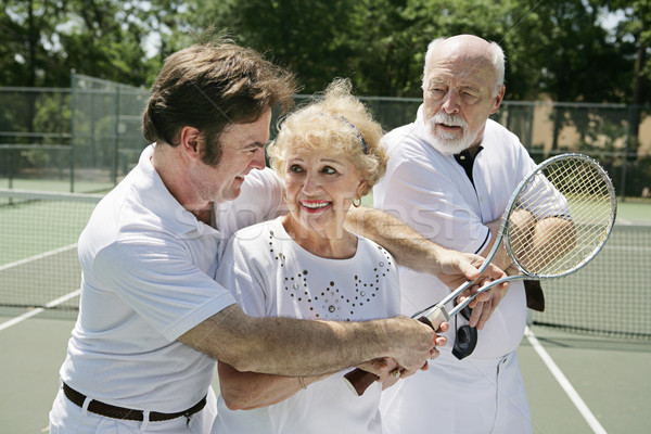 Tennis Lessons - Jealous Husband Stock photo © lisafx