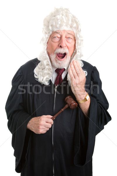 British Judge - Bored Stock photo © lisafx